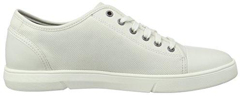 Clarks Lander Cap, Sneakers Basses Homme Blanc (White Combi)