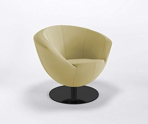 Clubsessel Only Plus S Flachfuß Barsessel Bürosessel Kunstlederbezug Valencia, Farbe:V6020 - Gold