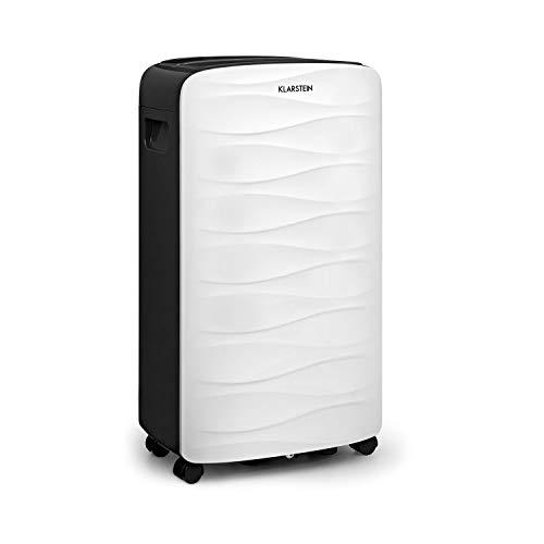 Klarstein DryFy 16 • Luftentfeuchter • Raumentfeuchter • 255 Watt • 16 L / 24h • Timer • für 25-35 m² (bis 85 m³) Raumgröße • 2 Liter Tank • weiß-grau
