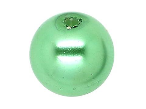 50 x Perle en Verre Nacrée 8mm Vert