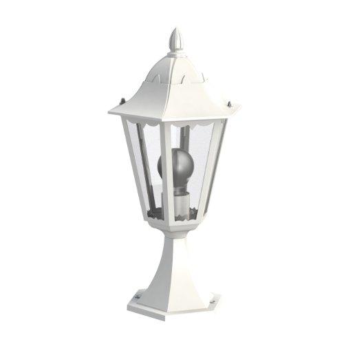 EGLO NAVEDO Alumbrado de sobremuro/pie para exterior Blanco E27 - Iluminación al...