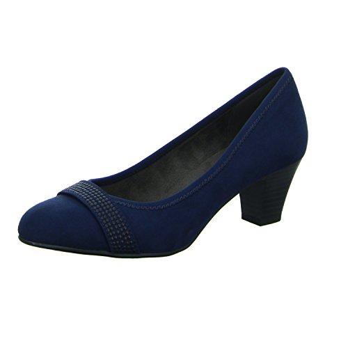 scarbella 8-8-22474-29/976 Damen Komfort Pumps eleganter Boden Blau (Blau)