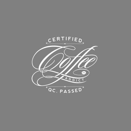 TEXLAB - Certified Coffee Addict - Herren T-Shirt Graumeliert