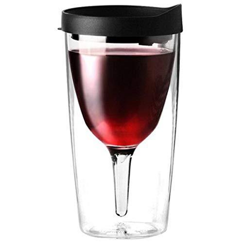 The, Portable, Verre de vin en Assortiment de Couleurs Noir