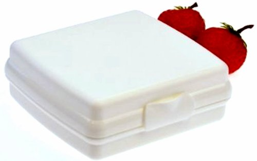 TUPPERWARE To Go Sandwich-Box weiß Brotbox Schule Pausenbrotbehälter A126 Dose
