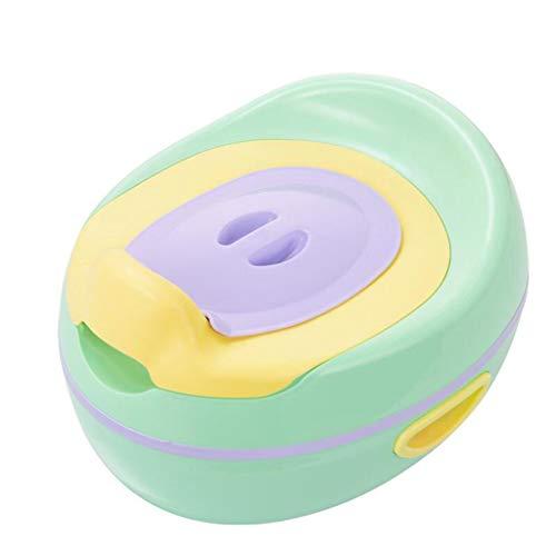 LLRDIAN Très grand enfant, toilette féminine pour bébé toilet toilette pour petit enfant ur urinoir en pot pour bébé (Couleur : Green)