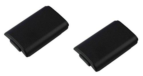 2 x Carcasas / Soportes de Pilas para Mandos Inalámbricos Negros de Xbox 360 || Garantía de un año || De Gratify®