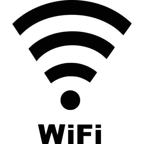 WiFi Vinyl Decal Window Wall Laptop Car Truck Boat, Die Cut Vinyl Decal for Windows, Cars, Trucks, Tool Boxes, laptops, MacBook - virtually Any Hard, Smooth Surface