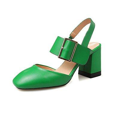 LvYuan Damen-Sandalen-Büro Kleid Lässig-Leder-Blockabsatz-Andere-Schwarz Grün Beige Black
