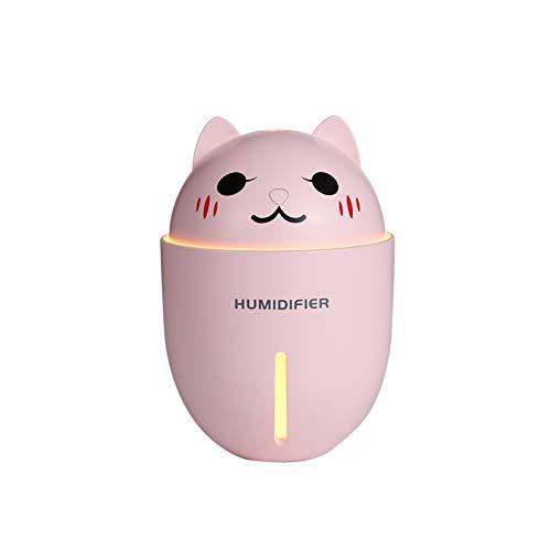 ZengBuks Meng Pet multifunción Tres en uno luz Nocturna pequeño Ventilador Mini USB humidificador - Rosa