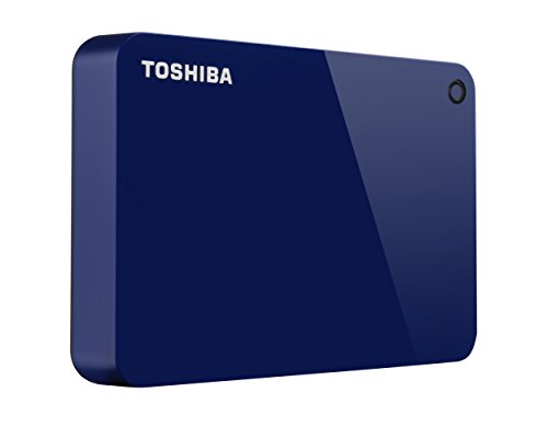 Toshiba Canvio Advance 4TB Portable External Hard Drive USB 3.0, Blue (HDTC940XL3CA)
