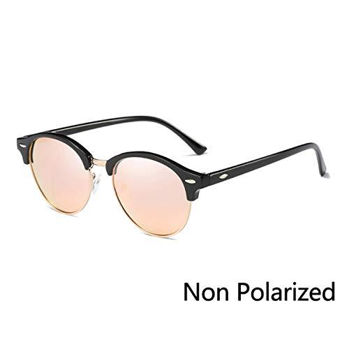 Sonnenbrillen Half Metal Sunglasses Men Women Brand Designer Glasses Mirror Sun Glasses Fashion Gafas Oculos De Sol UV400 Classic N03 C06 Black Pink