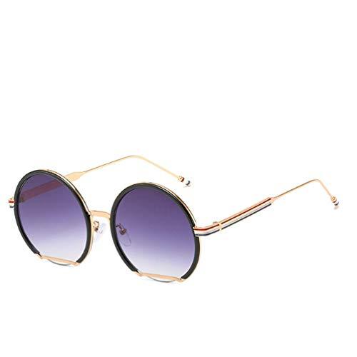 WYJW Damen \u0026 Herren Mode Doppel Shades 1970er Jahre Sonnenbrillen für Frauen XL Round Red Metallrahmen Outdoor Sonnenbrillen100% UV-Schutz (1970er Jahren Kleidung Für Frauen)