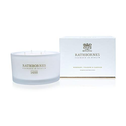 Rathbornes 1488 Rosemary, Fougere & Camphor Scented Luxury 4 Wick Candle - Rosemary Scented Candle