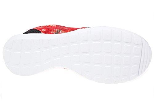 GIBRA® Damen Sneakers, sehr leicht und bequem, schwarz/rot mit Blumenmuster, Gr. 36-41 Schwarz/Rot