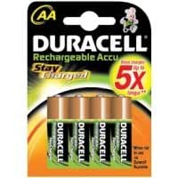 Duracell AA 2000 mAh Stay Charged Batteries - 4 Pack
