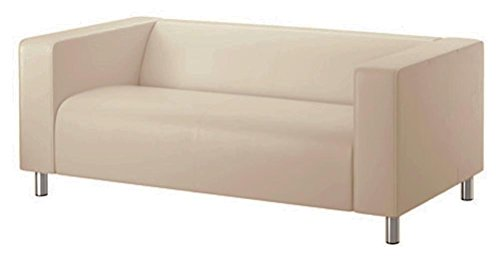 La Beige Klippan Loveseat funda de recambio es fabricada a medida para IKEA KLIPPAN, funda protectora, un sofá funda de recambio