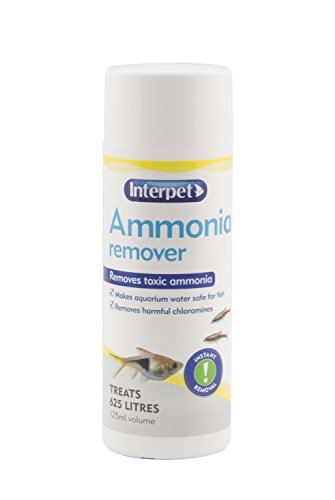 Interpet Aquarium Fish Tank Ammonia Remover, Removes Chloramine, 125 ml, Treats 625 Litre of Aquarium Water 1