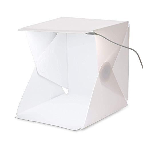 Besting Foto Studio Zelt, Mini Faltbarer Fotografie Studio Tragbarer Light Box Kit mit LED Lichtzelt, Mini Foto Studio Kleine Schießbox Fotografie Beleuchtung Zelt Kit für Smartphone oder DSLR Kamera (Kamera, Kulisse Kit)