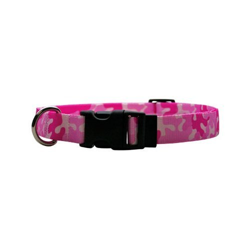 Camo Hundehalsband Medium Pink (Yellow Dog Design Standard-Kragen, Medium)