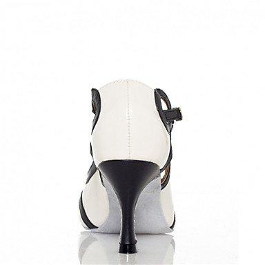Chaussures De Danse-personnalisable-femme / Danse Latino-américaine / Jazz / Salsa / Samba / Chaussures De Balançoire-custom-heel-satin / Faux Blanc