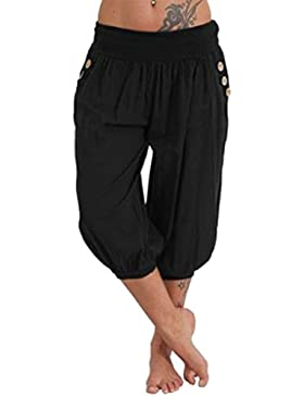 Mujer Pantalones Harén Color Sólido Pantalón Moda Casual Pantalones para Deportes Yoga Pilates Tallas Grandes