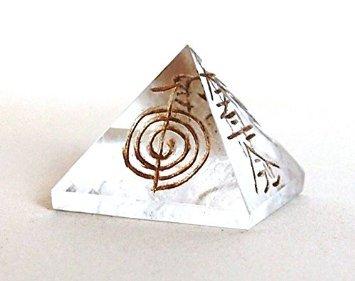 echtem Edelstein feine Qualität Pyramiden metaphysisch Pyramiden 25-30mm, Stein, Clear Quartz USUI Reiki, 25-30 mm -