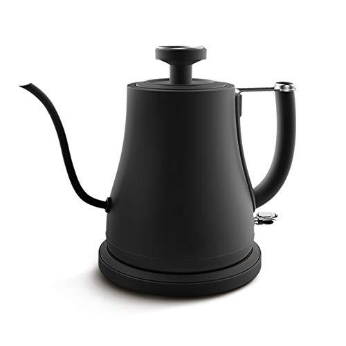 Hervidor eléctrico de 800ML, Cafetera con termómetro y diseño de cuello de cisne, Apagado automático, protección contra la ebullición, Hacer la perfecta taza de café o té
