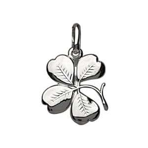 1001 Bijoux - Pendentif Trèfle à quatre feuilles en argent