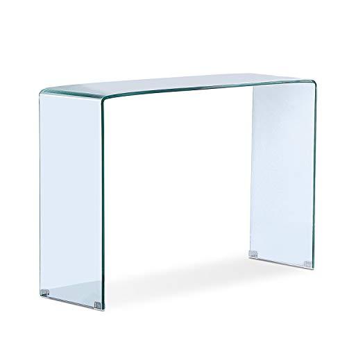 Adec - Glass, Recibidor de Cristal, Mueble Entrada Consola, Medidas: 110 cm (Ancho) x 75 cm (Altura) x 35 cm (Fondo)