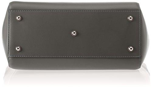 Chicca Borse Damen 8807 Schultertasche, 36x24x13 cm Grigio (Grigio)