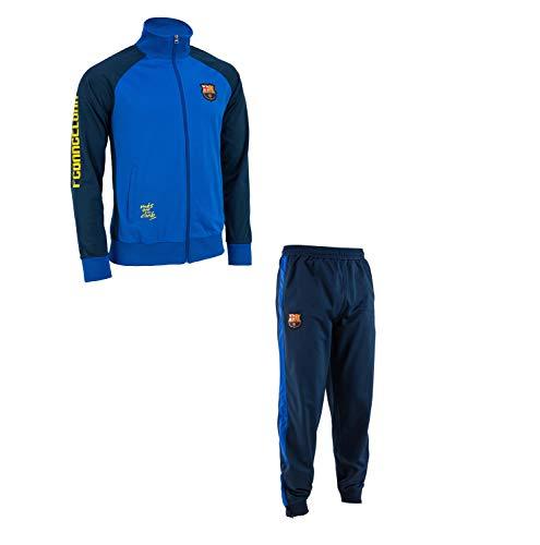 Trainingsanzug Barça, offizielles Produkt von FC Barcelona, Kindergröße, für Jungen 8 Jahre blau - Messi Jungen Trikot