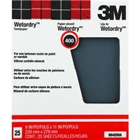 3M Pro-Pak Wetordry 99420NA Between Finish Coats Sanding Sheets, 9-Inch x 11-Inch, 400A-Grit by 3M - Wetordry 3m Schleifpapier