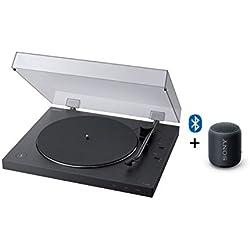 Sony PS-LX310BT Giradischi con Bluetooth + SRS-XB12 speaker compatto resistente all'acqua con EXTRA BASS