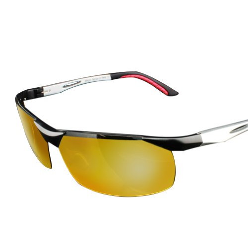 Duco Nachtsichtbrille Anti-Glanz Fahren Brillen Kontrast-Brille Nachtfahrbrille polarisierte 2181