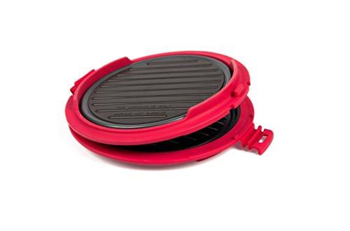 b. Bad 70120Grill Mikrowelle rund schwarz/rot (Wasserkocher Pizza Grill)