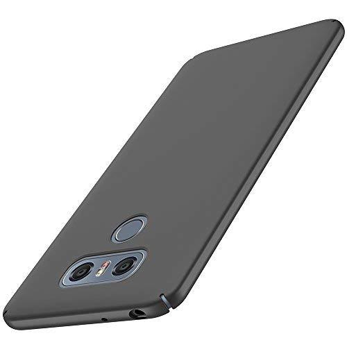 anccer LG G6 Hülle, [Serie Matte] Elastische Schockabsorption und Ultra Thin Design für LG G6 (Glattes Schwarzes)