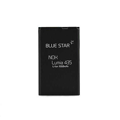 Blue Star Premium - Batteria da 1660 mAh Li-Ion de Capacità Carica Veloce 2.0 Compatibile Con il Microsoft Lumia 435 / 532