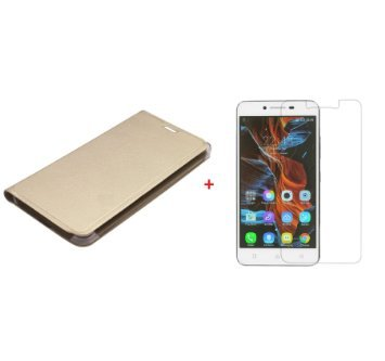 CLASSICO Premium Faux Leather Wallet Flip Case Cover With free tempered glass FOR Lenovo Vibe K5 Plus
