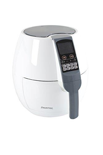 SUNTEC Friteuse FRI-9721 [sans matières grasses sans huile, capacité 2,2 litres, fonction minuterie, température réglable, max. 1800 watts]