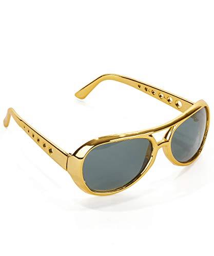 Goldene Elvis Sonnenbrille für Erwachsene