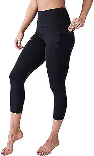 b3c4b7e109f94e EUZeo Frauen Hohe Größe Yoga Hosen mit Taschen Bauch Workout 4 Laufen Sport  Leggings Joggen Röhrenhosen... 3 Damen naadea2523-Kleidung