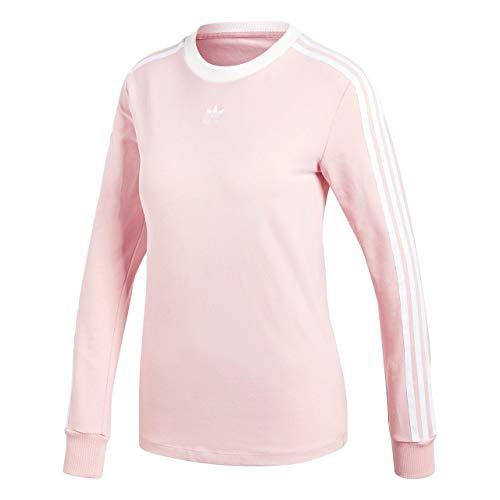 adidas Damen 3-Stripes Longsleeve, Pink Spirit, 40