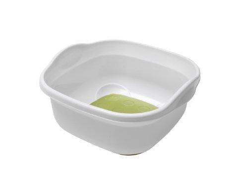 Spülschüssel, Plastik, weicher Boden, Weiß/ Grün