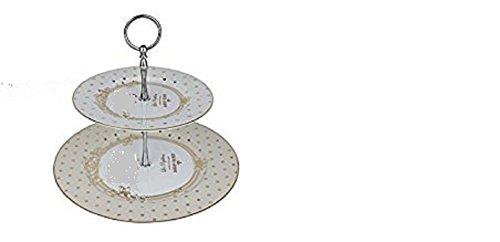 Easy Life 1105DOC Coffret Serviteur Muet 2 Etages, Porcelaine, Rose, 27 cm