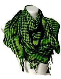 *** PROMOTION *** Foulard Palestinien - Keffieh - Chèche - Pashmina - Vert et Noir