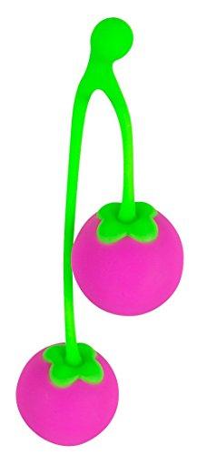 ORION Liebeskugeln Sweet Cherry - Liebeskugeln für sie mit Vibration, effektives Beckenbodentraining, mehr Lust beim Sex, Silikon