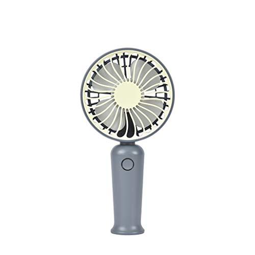 Deloito Wiederaufladbar Student Süsser Fan Licht Wind Handventilator Spray Kühlung Air Desktop Mini Lüfter Tragbarer Silent Kleiner Ventilator USB-Aufladung (Grau-02) - Serien-ersatz-desktop-pc