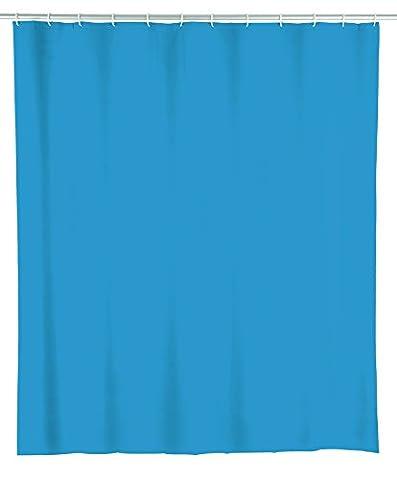 Wenko 22485100 Duschvorhang Wasserdicht, Pflegeleicht, Polyethylen-Vinylacetat, ocean blau, 180 x 200