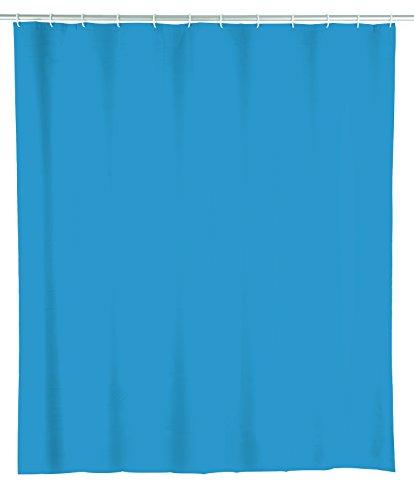 Wenko 22485100 Duschvorhang Ocean Blue, wasserdicht, pflegeleicht, Kunststoff (PEVA), 180 x 200 cm, blau Ocean Bad-accessoires